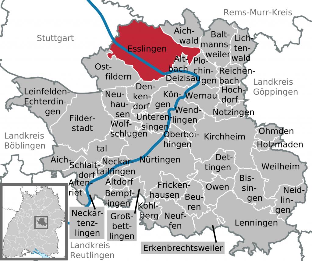 Stadtteile Esslingen